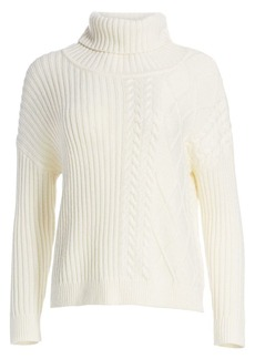 Splendid Lakewood Cable-Knit Turtleneck Sweater