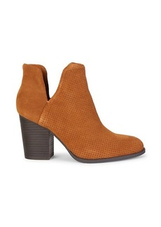 Splendid Lani Suede Stack-Heel Booties