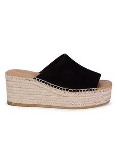Splendid Laura Suede Espadrille Wedge Sandals