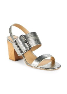 Splendid Leather Slingback Sandals