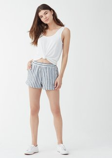 Splendid Linen Blend Stripe Short