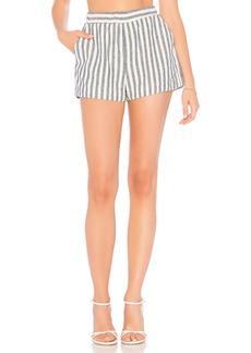 Splendid Linen Blend Stripe Short