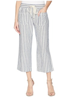 Splendid Linen Blend Striped Cropped Pant