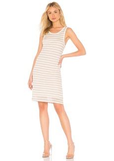 Linen Shadow Stripe Dress