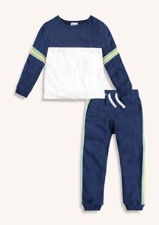 Splendid Little Boy Athletic Stripe Trim Set