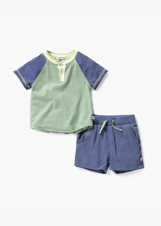 Splendid Little Boy Henley Tee & Short Set