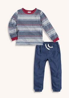 Splendid Little Boy Long Sleeve Stripe Tee and Jogger Set