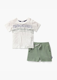 Splendid Little Boy Stripe Tee & Short Set
