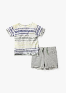 Splendid Little Boy Stripe Top &Short Set