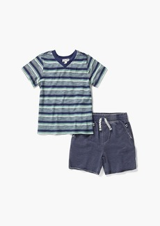 Splendid Little Boy Stripe V-Neck Tee Set