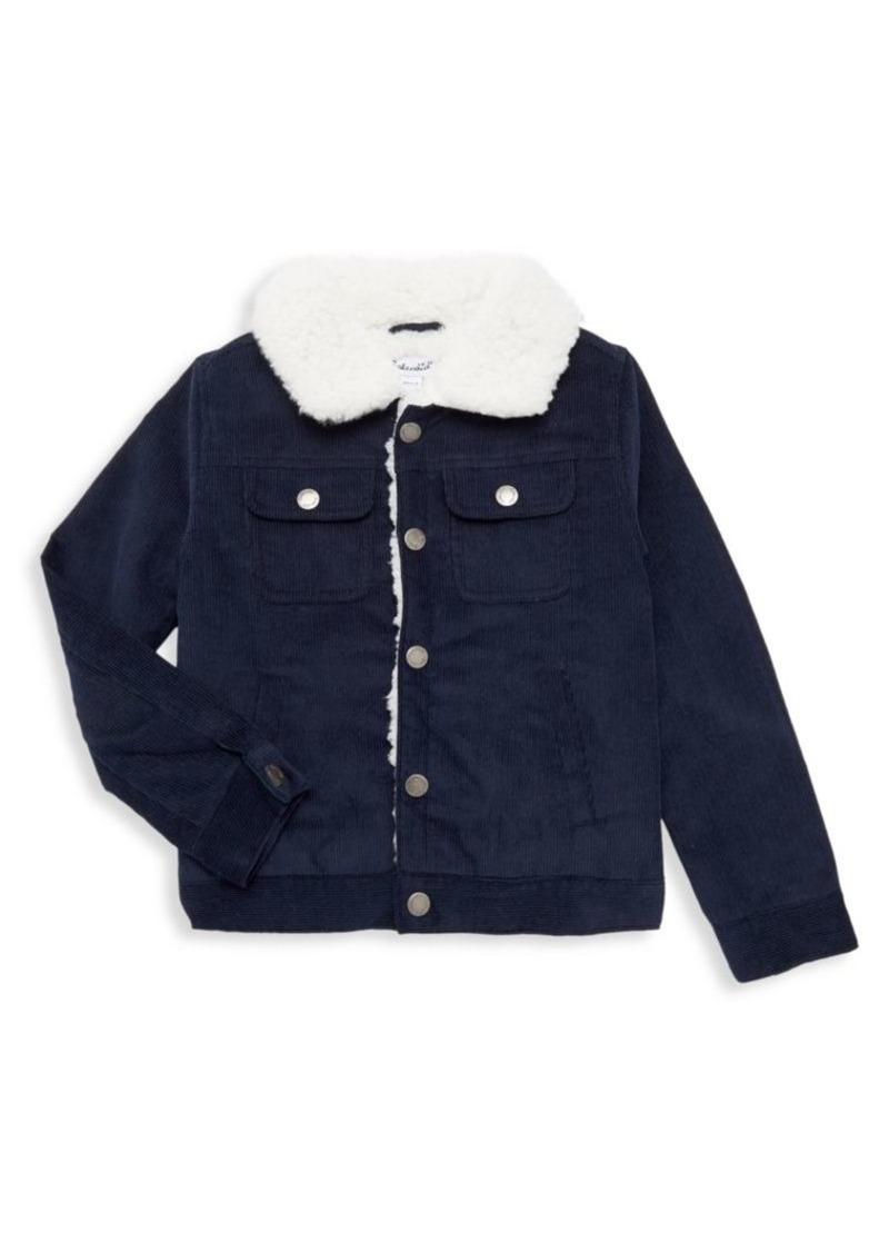 Splendid Little Boy's Faux Fur Collar Corduroy Jacket