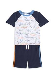 Splendid Little Boy's Two-Piece Dinosaur Print Tee & Shorts Set