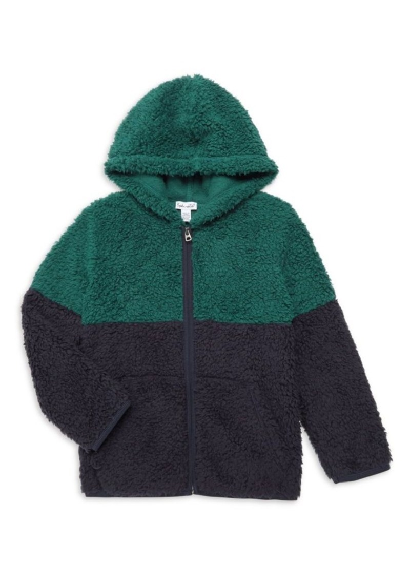 Splendid Little Boy's Two-Tone Faux Shearling Hoodie