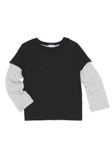 Splendid Little Boy's Washed Long Sleeve Baseball T-Shirt