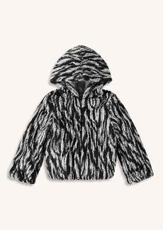 Splendid Little Girl Braided Fur Jacket