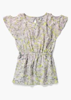 Splendid Little Girl Cold Shoulder Voile Dress