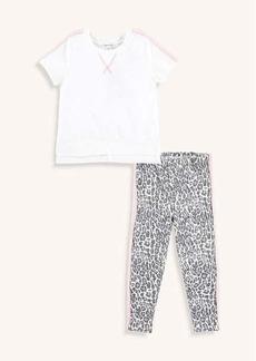 Splendid Little Girl Leopard Print Legging Set