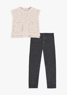 Splendid Little Girl Loose Fit Pockets Sweater Set