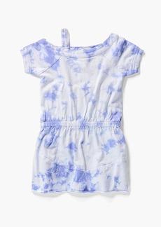 Splendid Little Girl One Shoulder Tie Dye Dress