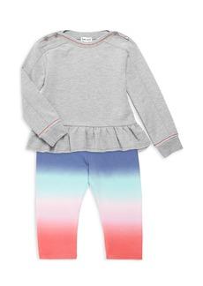 Splendid Little Girl's 2-Piece Girl's Dip-Dye T-shirt & Leggings Set