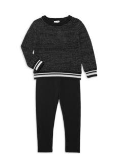 Splendid Little Girl's 2-Piece Lurex Sweater & Leggings Set