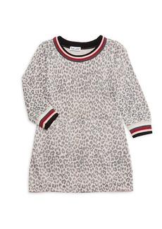 Splendid Little Girl's Leopard-Print Sweater Dress