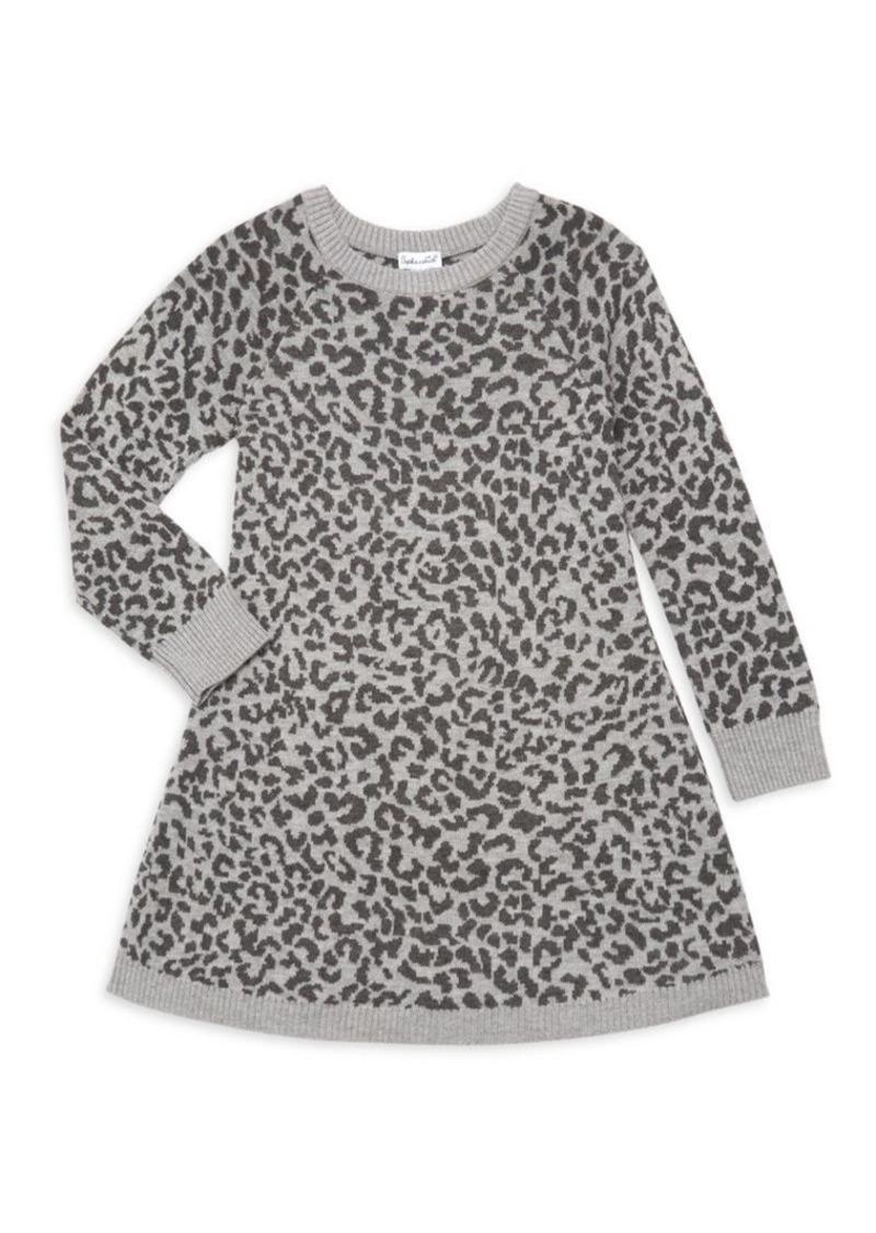 Splendid Little Girl's Leopard Print Sweater Dress