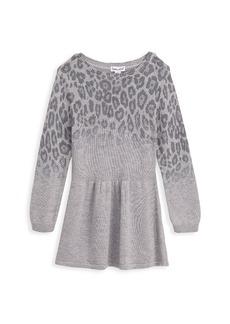 Splendid Little Girl's Ombre Leopard Dress