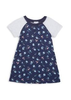 Splendid Little Girl's Raglan-Sleeve Floral Dress