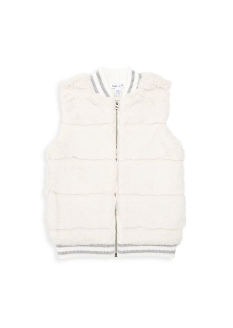 Splendid Little Girl's Rib Faux Fur Vest