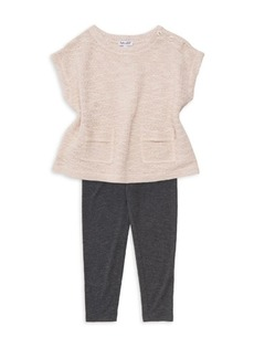Splendid Little Girl's Two-Piece Knit Sweater & Leggings Set
