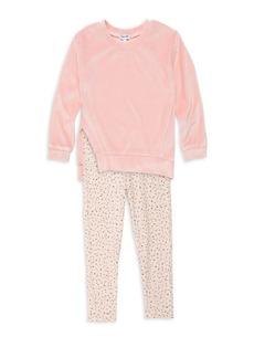 Splendid Little Girl's Velour Sweatshirt & Leggings Two-Piece Set