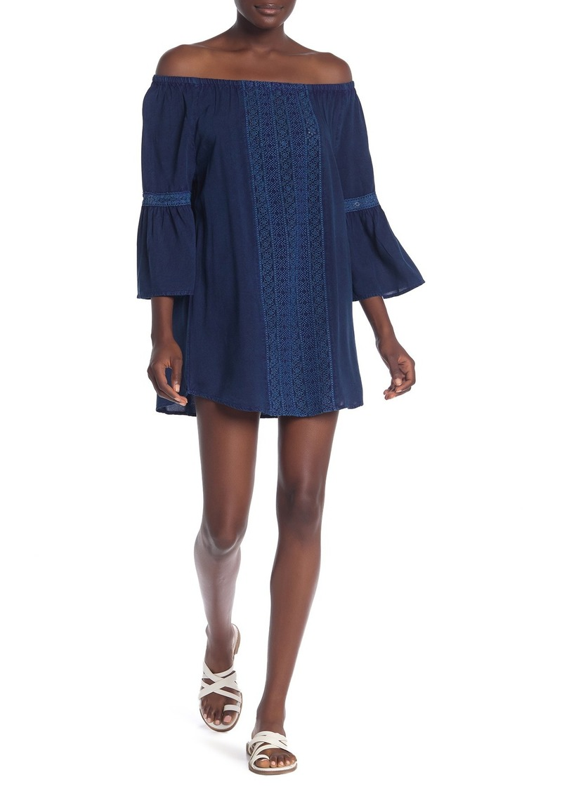 Splendid Long Lines Off-the-Shoulder Mini Dress