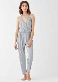 Splendid Long Sleep Romper Heather Grey