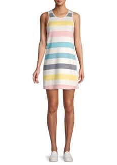 Splendid Malin Striped Cotton-Blend Mini Dress