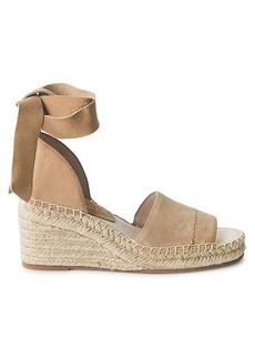 Splendid Malissa Suede Ankle-Tie Wedge Sandals
