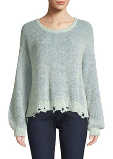 Splendid Marina Distressed Wool-Blend Sweater