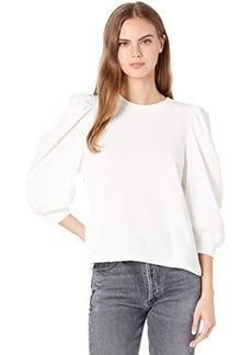 Splendid Mariposa Brushed Terry Flounce Pullover Sweatshirt