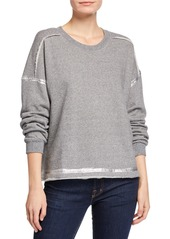 Splendid Metallic-Trim Crewneck Pullover Sweatshirt