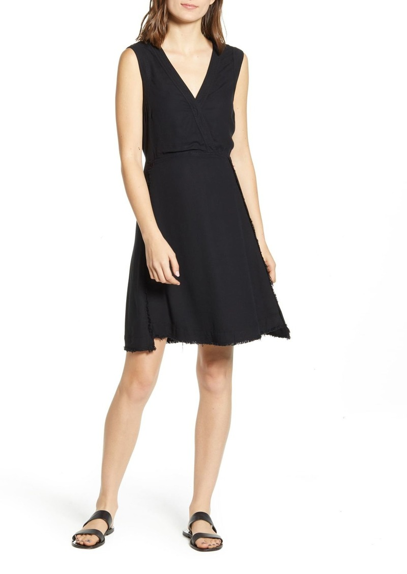 Splendid Monterey Crosshatch V-Neck Dress