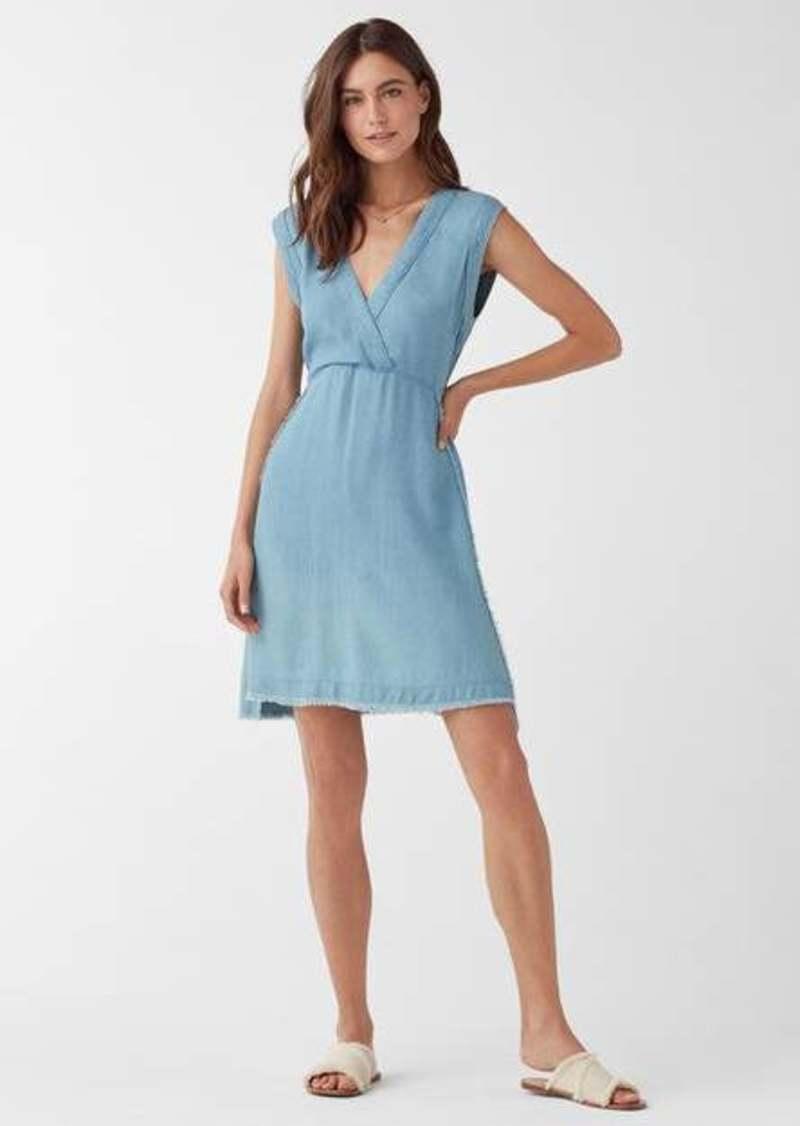 Splendid Monterey Indigo Crosshatch V-Neck Dress