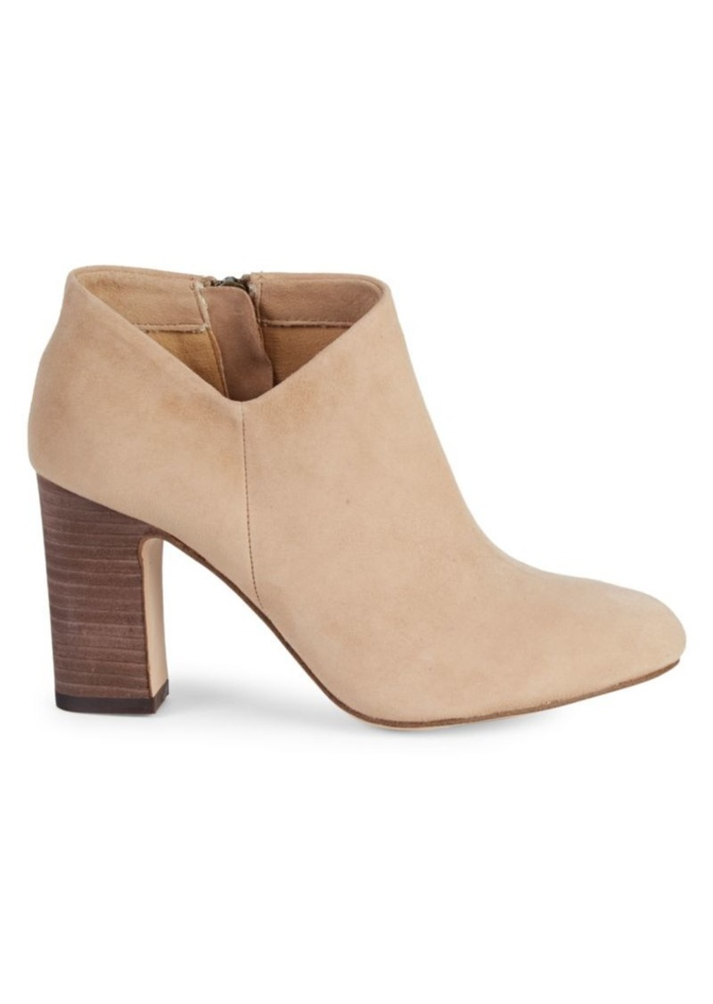 Splendid Neves Suede Stacked-Heel Ankle Boots