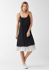 Splendid Ocean Dipped Pleated Cami Dress