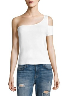 Splendid One Shoulder Sleeve Tee
