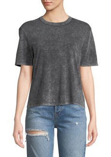 Splendid Outpost Mineral Wash Short-Sleeve Cropped Tee