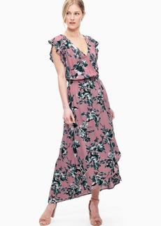Splendid Painted Floral Tulip Sleeve Dress