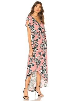 Painted Floral Wrap Dress