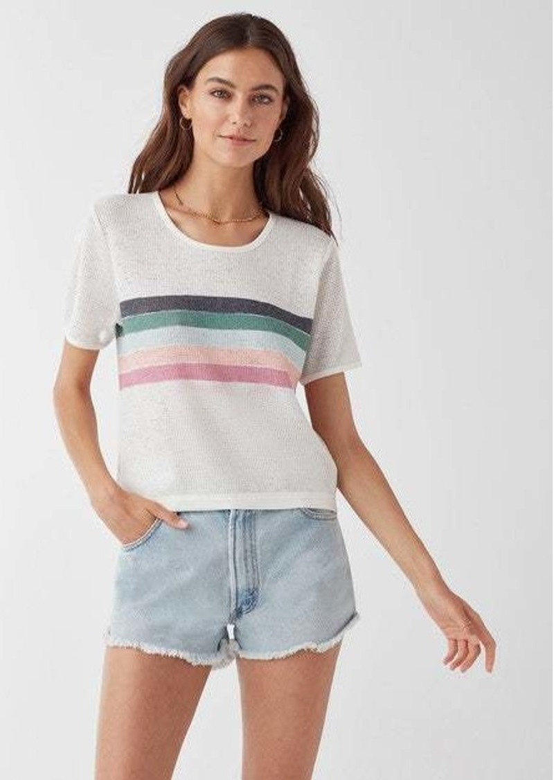 Splendid Painted Stripe Looseknit Tee