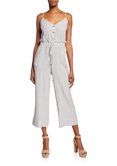 Splendid Paperbag-Waist Striped Jumpsuit