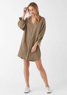 Splendid Paradise Double Cloth Button Down Dress